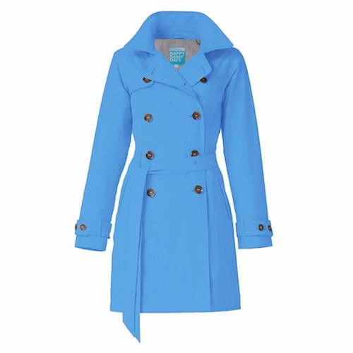 Best Trench Rain Coat: 3. Happy Rainy Days Women's Classic Trench Coat With Removable Hood