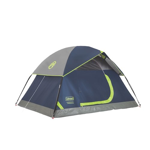 2. Sundome 4 Person Tent : the Green and Navy color options