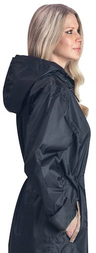 Best Trench Rain Coat: 5. Shaynecoat Raincoat for Women Black and Gold