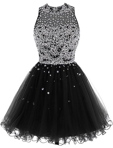 10. Bbonlinedress Short Tulle Beading Homecoming Dress Prom Gown