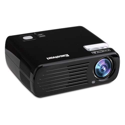 Best Projectors under 500: 6. Excelvan 2600 Lumens Mini LED Multimedia LCD Home Cinema Theater Projector Support 3D Effect
