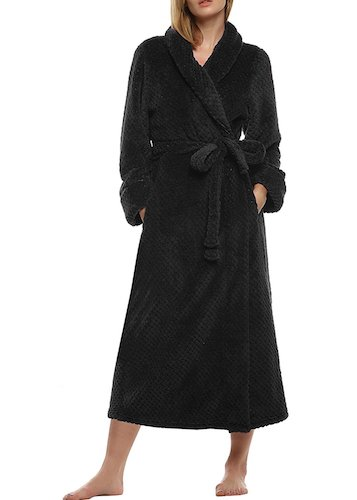 10. Ekouaer Women's Super Plush Microfiber Fleece Bathrobe