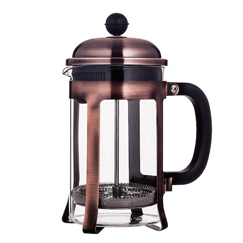 6. Mandarin-Gear Copper Stainless Steel French Press Coffee Maker