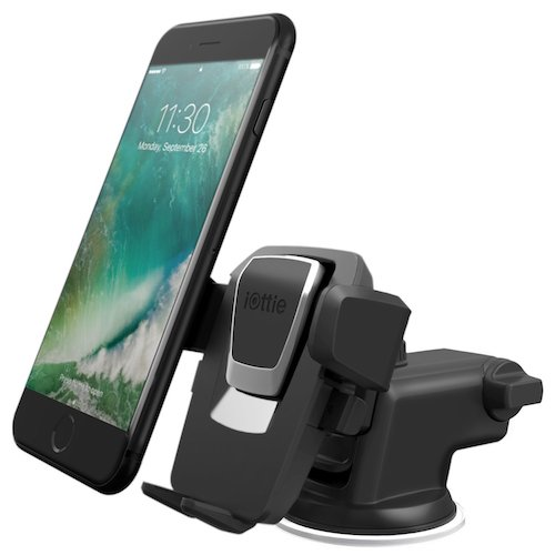 Best Car Mount Smart Phone: 4. iOttie Easy One Touch 3 (V2.0) Car Mount Universal Phone Holder for iPhone 7 Plus 6s Plus SE Samsung Galaxy S7 EdgeS6 Edge Note 5 – Retail Packaging-Black