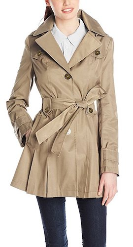 Best Trench Rain Coat: 2. Neonysweets Women's Ladies Hooded Trench Coat Single-Breasted Belted Jacket