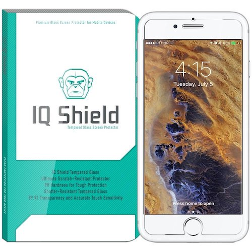 6. iPhone 7 Screen Protector, IQ Shield® Tempered Ballistic Glass Screen Protector