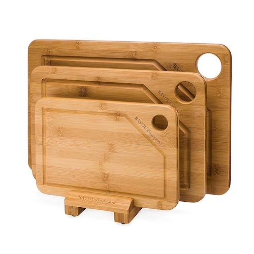 7. Thick Bamboo Cutting Board Set (Large/Medium/Small)