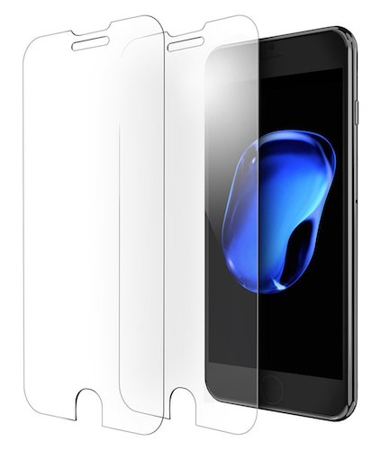 8. OULUOQI Tempered Glass Screen Protector for iPhone 7