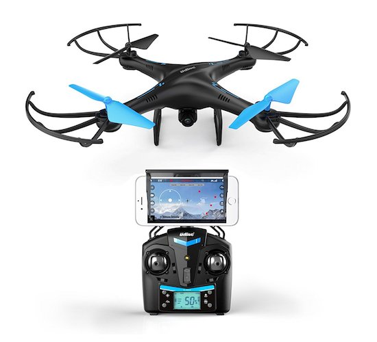6. U 45 blue jay quadcopter drone