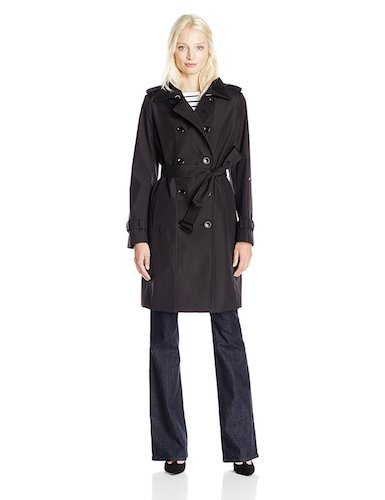 Best Trench Rain Coat: 7. Calvin Klein Women's Rain Jacket Double Breasted Trench