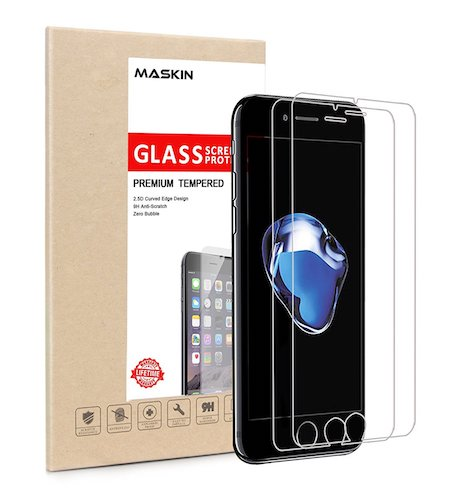 10. iPhone 7 Screen Protector, Maskin Glass Screen Protector Case