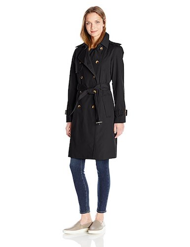 Best Trench Rain Coat: 10. Jones New York Women's Extended Length Belted Trench Jacket