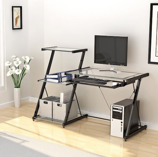 best home office desks 6 z line nero desk