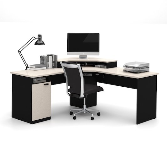 Best Home Office Desks: 7. Bestar Hampton corner workstation