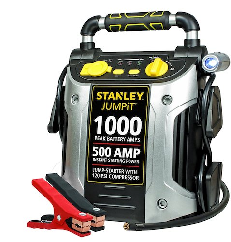 10. Stanley JC509 1000 Peak Amp Jump Starter with Compressor