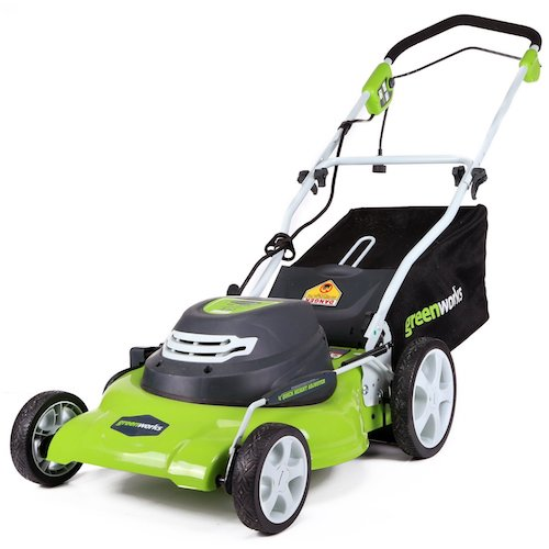 9. GreenWorks 25022 12 Amp Corded 20-Inch Lawn Mower