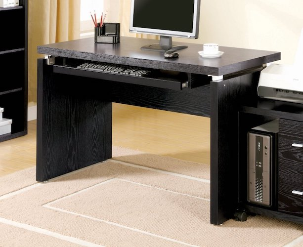 Best Home Office Desks: 9. Coaster Peel Black Computer Desk