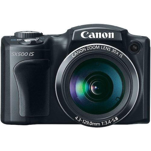 5: Canon PowerShot SX500 IS 16.0 MP Digital Camera with 30x Wide-Angle Optical Image Stabilized Zoom and 3.0-Inch LCD (Black)