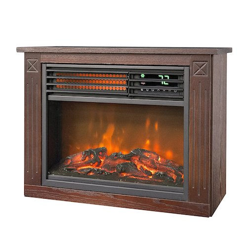 8. Lifesmart Large Room Infrared Quartz Fireplace