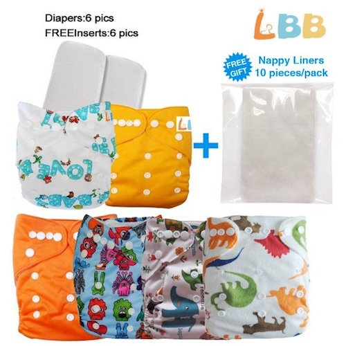1. LBB Reusable Baby Cloth Pocket Diapers