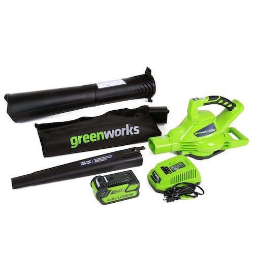 Best Cordless Leaf Blower: 5. GreenWorks 24322 G-MAX 40V 185MPH Variable Speed Cordless