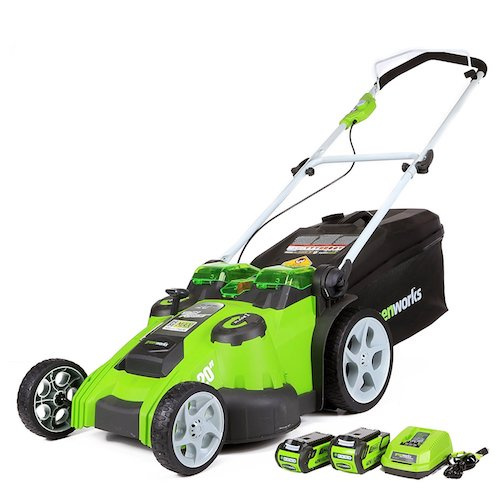 1. GreenWorks 25302 G-MAX 40V Twin Force 20-Inch Cordless Lawn Mower