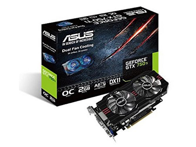 4. ASUS NVIDIA GeForce GTX 750 Ti GDDR5 2GB PCI Express 3.0 128-bit Graphics Card (GTX750TI-OC-2GD5)