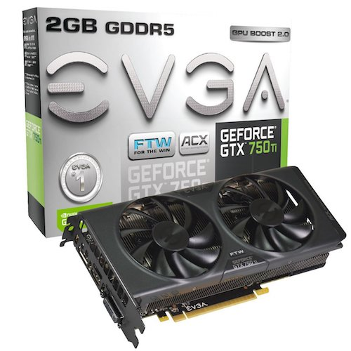 3. EVGA GeForce GTX 750 Ti FTW DVI-I/HDMI/Display Port GDDR5 Graphics Card with ACX Cooling 02G-P4-3757-KR