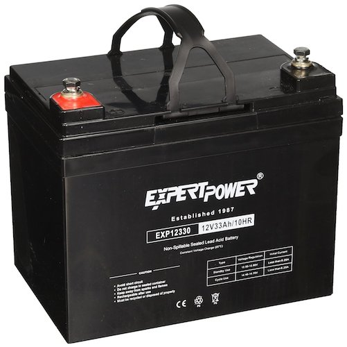 3. ExpertPower 12v 33ah Rechargeable Deep Cycle Battery