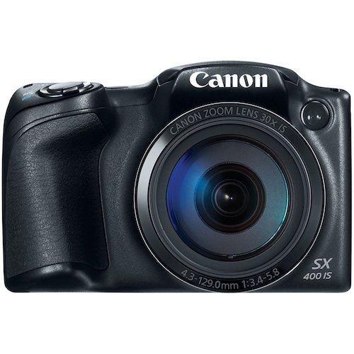 4. Canon PowerShot SX400 Digital Camera with 30x Optical Zoom (Black) (Discontinued by Manufacturer)