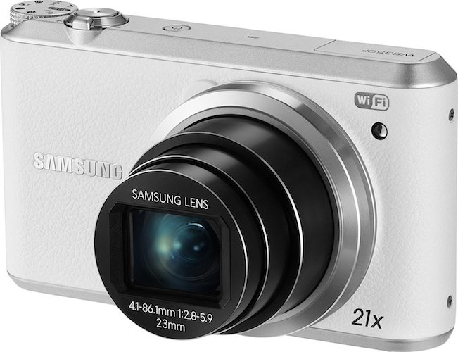 9. Samsung WB350F - 16.3MP BSI CMOS, 21X Optical Zoom, 3-inch LCD touchscreen, 1080p HD Video, Smart WiFi and NFC Digital Camera - White (Certified Refurbished)
