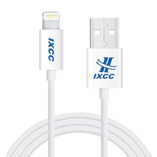 4. iXCC Element Series 1ft Apple MFi Certified Lightning 8pin to USB Charge and Sync Cable– White
