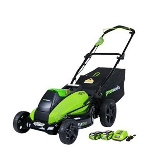2. GreenWorks 2500502 G-MAX 40V 19-Inch Cordless Lawn Mower