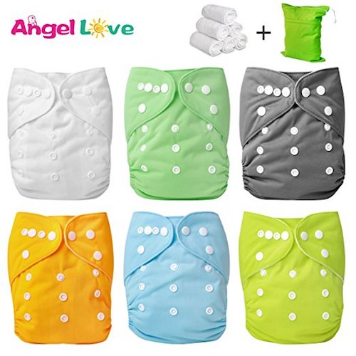 6. Angel Love 6 Pack Cloth Diaper