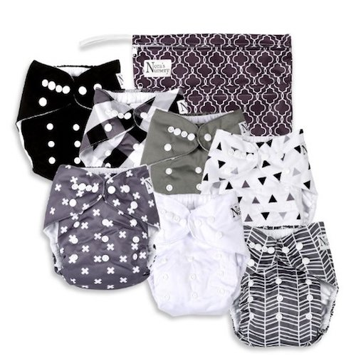 2. Nora's Nursery Baby Cloth Pocket Diapers