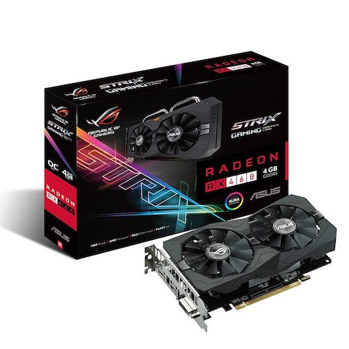 5. ASUS ROG STRIX Radeon RX 460 4GB OC Edition AMD Gaming Graphics Card (STRIX-RX460-O4G-GAMING)