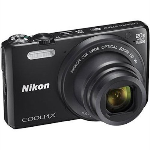 7. Nikon Coolpix S7000 16 MP Digital Camera with 20x Optical IS Zoom, 3-Inch LCD, Black (Certified Refurbished)