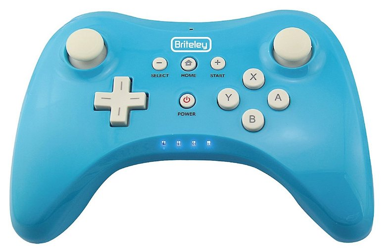 6. Briteley pro controller wireless Wii U with USB charging cable.