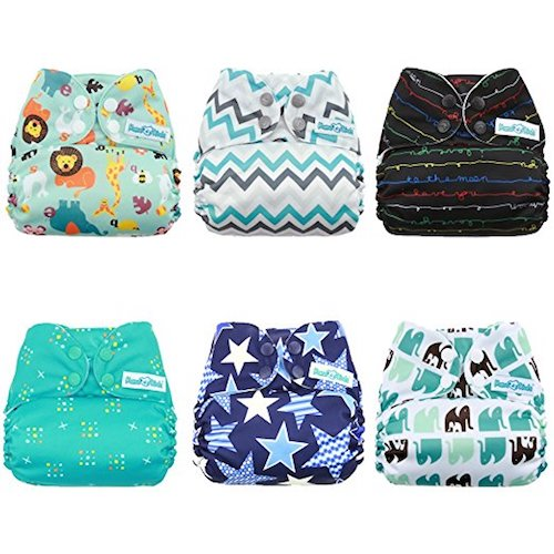 3. Mama Koala Pocket Cloth Diapers,