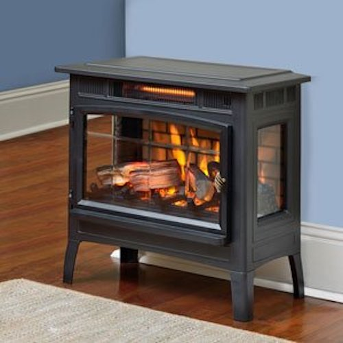 7. Duraflame DFI-5010-01 Infrared Quartz Fireplace Stove