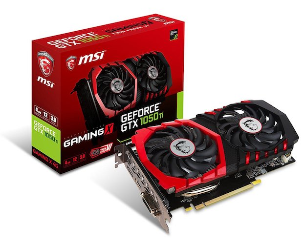 8. MSI Computer Video Graphic Cards GeForce GTX 1050 TI GAMING X 4G