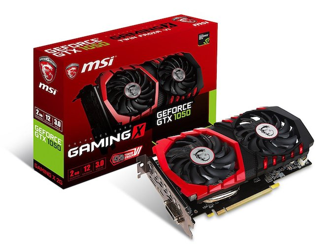 2. MSI Computer Video Graphic Cards GTX 1050 GAMING X 2G