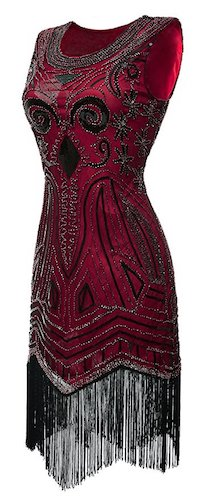 Eforpretty 1920s Long Prom Vintage Gatsby Bead Sequin Art Nouveau Deco Flapper Dress