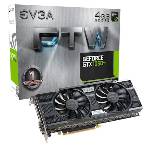 9. EVGA GeForce GTX 1050 Ti FTW Gaming Graphic Cards ACX 3.0, 4GB GDDR5, DX12 OSD Support (PXOC) 04G-P4-6258-KR