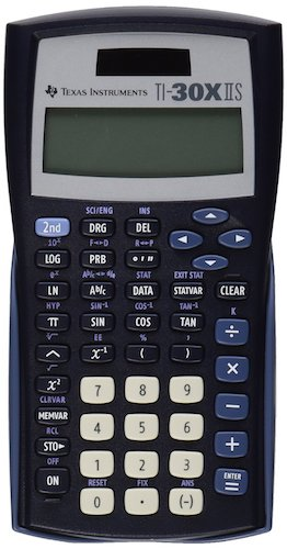 7: Texas Instruments TI-30X IIS 2-Line Scientific Calculator, Black with Blue Accents