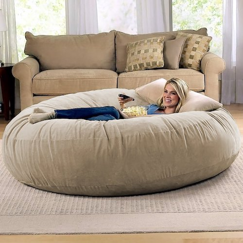 Best Bean Bag Chairs: 9. Jaxx 6 Foot Cocoon-Large Bean Bag Chair For Adults