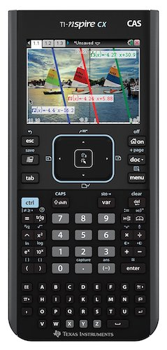 1: Texas Instruments Nspire CX CAS Graphing Calculator