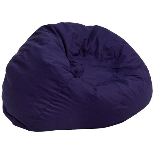 Best Bean Bag Chairs: 2.Oversized Solid Navy Blue Bean Bag Chair