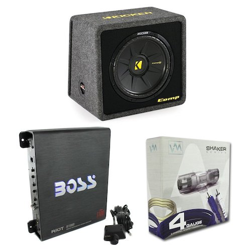 "Best Car Subwoofer Amplifier: 1. Kicker 40VCWS124 12"" 600W"
