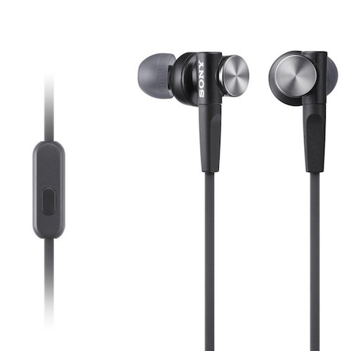 Best Earbuds under 50: 4. Sony MDRXB50AP Extra Bass Earbud Headset (Black)